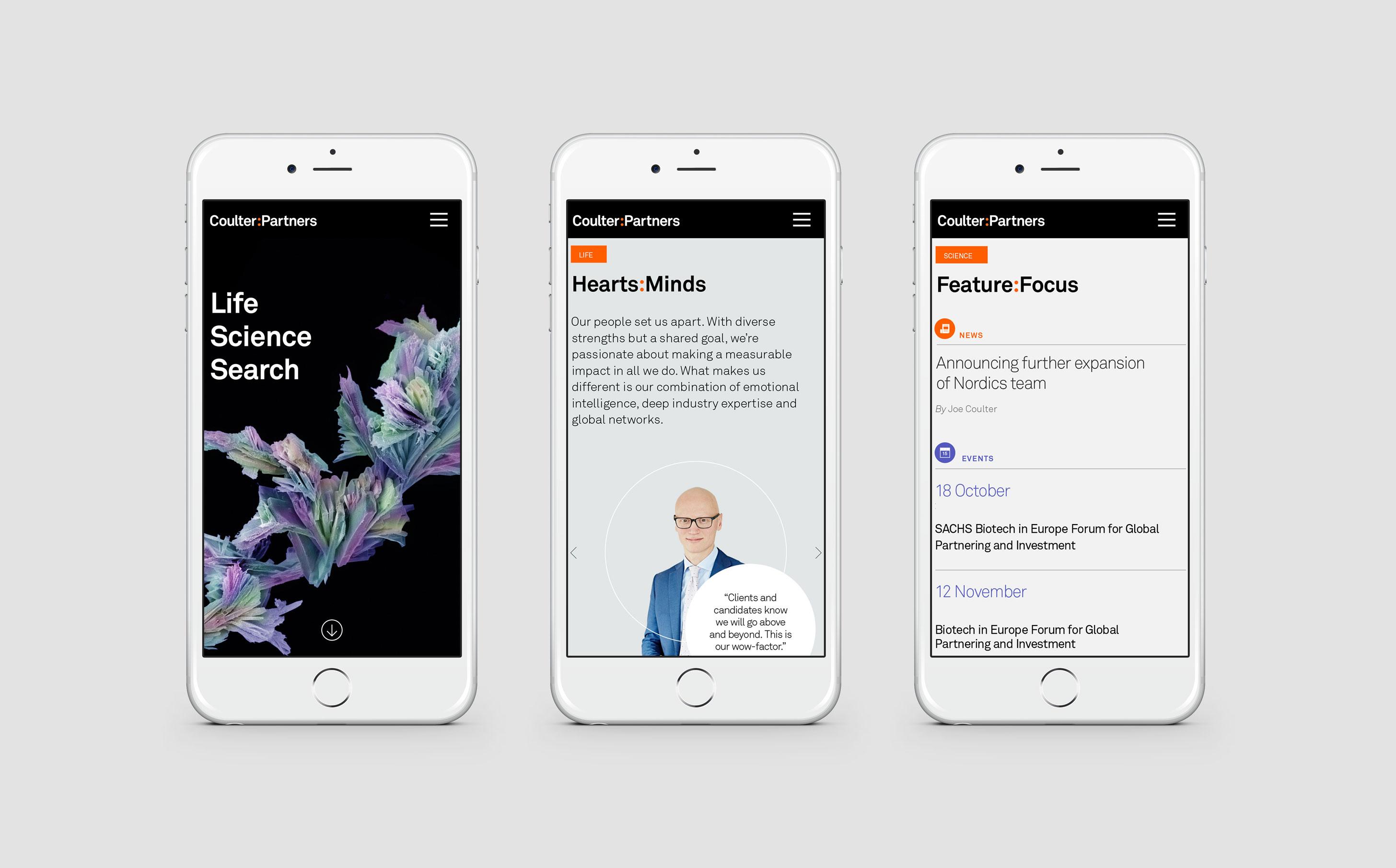 coulter-partners-website-mobile-design