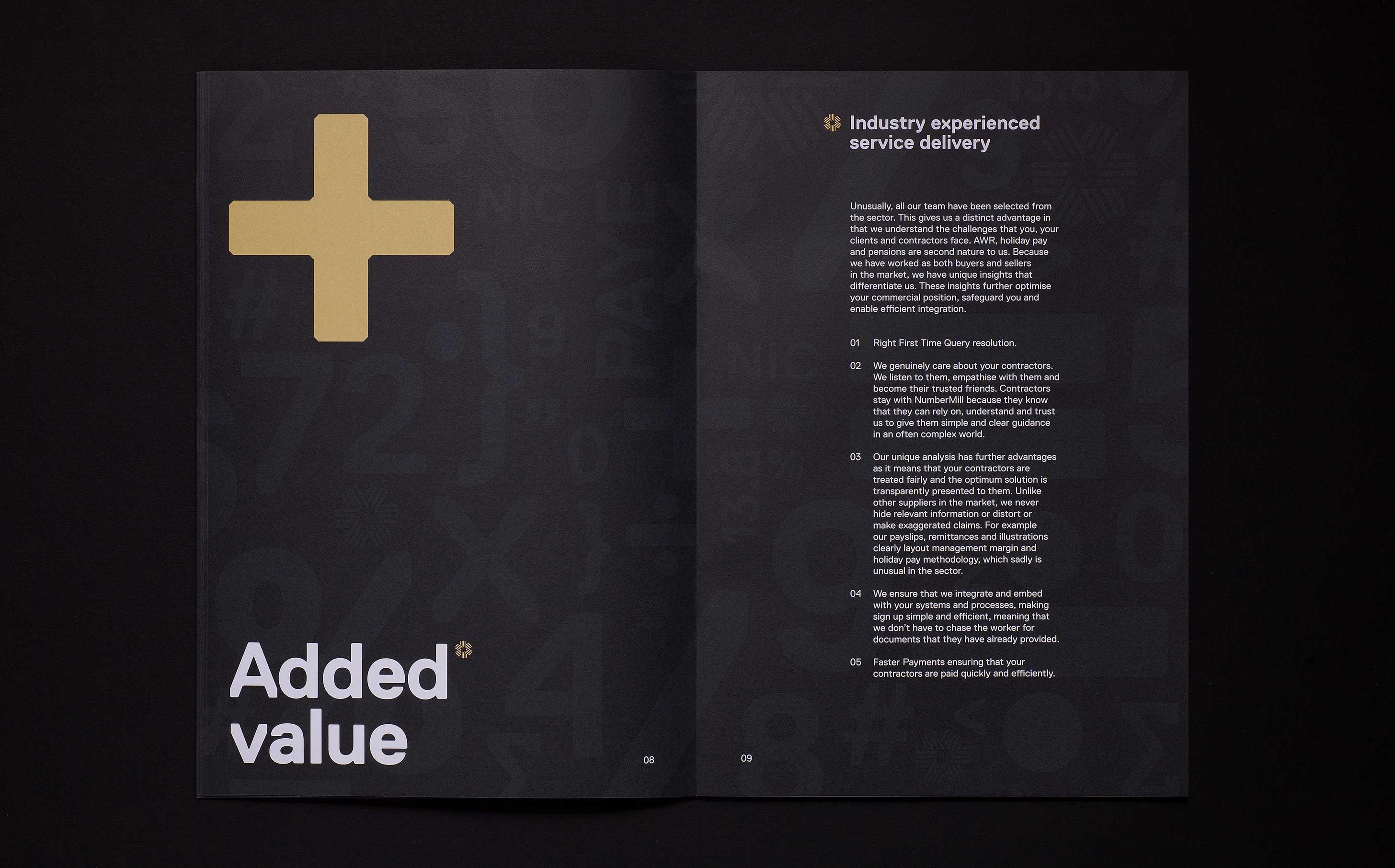 Numbermill brochure design 08 09